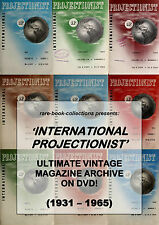 INTERNATIONAL PROJECTIONIST - RARE MAGAZINES ON DVD - CINEMA, PROJECTOR, PICTURE