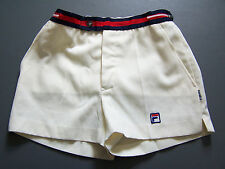 FILA PANATTA WHITE LINE SHORTS MEN'S W28 in.CREAM RED BLUE  VINTAGE ITAX071