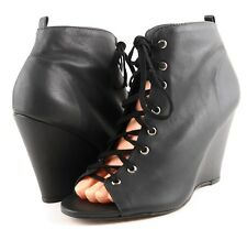 JOIE I WILL SURVIVE Caviar Leather Designer Fashion Lace Up Booties 8.5 EUR 38.5