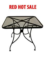 NEW 36x36 BLACK METAL OUTDOOR PATIO RESTAURANT TABLE FURNITURE