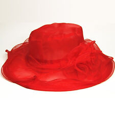 New Vintage Women Wide Brim Kentucky Derby Sun Hat Wedding Tea Party Church Cap