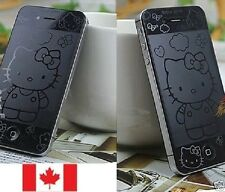 Front+Back 3D Hello Kitty Screen Protector Guard Sticker for iPhone 4/4S Canada