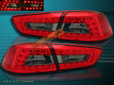 08-2011 MITSUBISHI LANCER / EVOLUTION RED SMOKE LED TAIL LIGHTS 4PCS NEW
