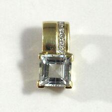 Clipanhänger mit Aquamarin und Diamanten Gelbgold 585/000 [JS61748]