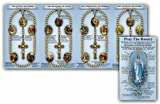How to Pray the Rosary Illustrated Pamphlet Includes Luminous Mysteries SINGLE
