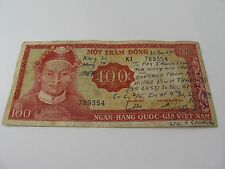 Amazing 100 Mot Tram Dong Vietnam Currency MILITARY ARMY NAVY FOOTBALL BETTING