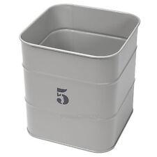 Grey No. 5 Kitchen Utensil Storage Jar Enamel Living Nostalgia Holder Pot Caddy