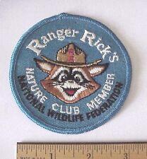 Vintage Ranger Rick's Nature Club Member Nat'l Wildlife Federation Raccoon Patch