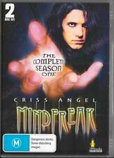 CRISS ANGEL MINDFREAK SEASON 1 -  NEW & SEALED R4 DVD 2 DISCS FREE LOCAL POST