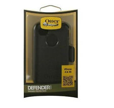 OEM OTTERBOX RUGGED DEFENDER CASE W/ HOLSTER CLIP FOR APPLE iPHONE 4S 4 BLACK
