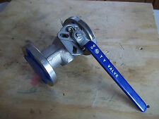 """TY (TONG YUNG) BALL VALVE FIG. U106RF0910 1 1/2"""" STAINLESS STEEL 150 CLASS"""