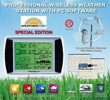 WIRELESS HOME WEATHER STATION w/ DIGITAL ATOMIC CLOCK INDOOR OUTDOOR THERMOMETER