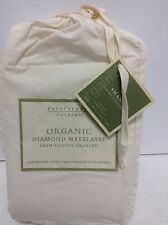 1 Pottery Barn Organic Quilted Diamond Matelasse Standard Bed Sham Cover Natural
