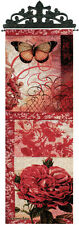 Spring Blooms ~ Butterfly/Roses Tapestry Wall Hanging Panel
