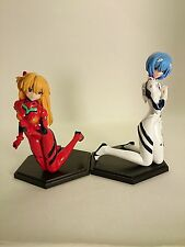 "Free Shipping Evangelion 3"" Promo Figure 2pcs Authentic Japan k#10165"