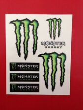 ADESIVI MONSTER ENERGY USA ORIGINALI OTTIMA QUALITA' SUPER. 10X12 MOTO SCOOTER