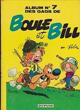 ROBA. Boule et Bill n°7. Dupuis 1973, dos rond pelliculé jaune.