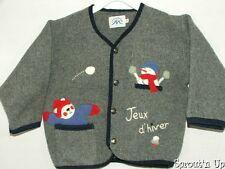 LA MODE des MONTAGNES fleece cardigan jacket 2 2t 3T Jeux d'hiver EUC