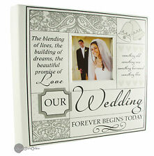 Large White Verse Our Wedding Photo Album Gift NV299