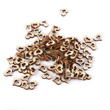 NEW 100pcs Blank Embellishments Crafts 10 x 3mm Hollow DIY Heart Shapes Wooden
