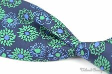 NWT - LILLY PULITZER Blue Green THIS BUDS FOR YOU Floral Silk Luxury Tie - 3.25""