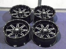 "14"" POLARIS RZR XP 900 ALUMINUM ATV WHEELS NEW SET 4 - LIFETIME WARRANTY T4"