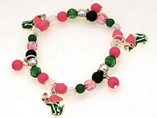 Children's Multi-Color Beaded Stretch Bracelet With Flamingo Charms