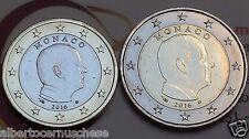 1 + 2 euro MONACO 2016 da rotolino fdc Principe ALBERTO prince albert II Монако