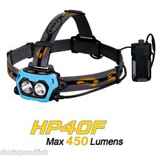 Fenix HP40F Fishing Headlamp Features Cree XP-G & XP-E Blue LEDs