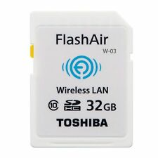 32GB Toshiba Flash Air W-03 32GB Class 10 Wireless Memory Card / Wifi SD Card