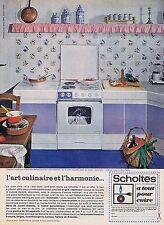 PUBLICITE ADVERTISING 1965 035 SCHOLTES cuisinière mixte gaz électricité