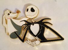 DISNEY NIGHTMARE BEFORE CHRISTMAS JACK SKELLINGTON AND ZERO PUPPET PIN