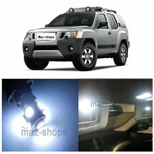 10Pcs Premium Xenon White Interior LED Lights Package Kit for Nissan Xterra