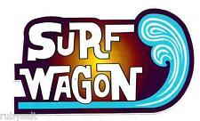 """""""SURF WAGON"""" Sticker Decal Surfing Surfboard Longboard WOODY VW KOMBI Skateboard"""
