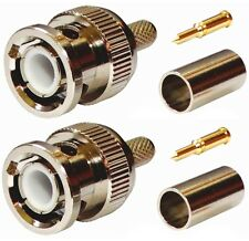 2x connecteur prise fiche BNC mâle pour câble 50Ω B9907 RG141 RG58 URM43 URM76