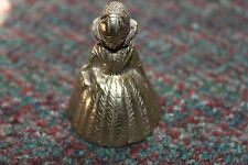 Vintage made in India Solid Brass Lady Dress Bell   - Estate