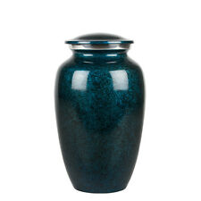 Perfect Memorials Large Deep Blue Sea Brushed Cremation Urn