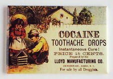 Cocaine Toothache Drops FRIDGE MAGNET (2 x 3 inches) advertisement