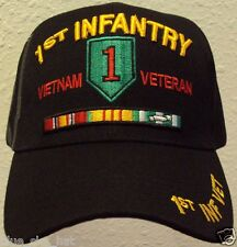 U.S. ARMY 1ST INFANTRY DIVISION BIG RED ONE VIETNAM VIET NAM VETERAN VET CAP HAT
