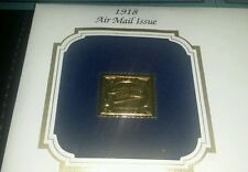 22kt Gold Replica 1918 24 cents Inverted Jenny Stamp First Day Commemorative