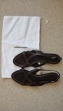 Costume National brown leather Greek sandals size 40 UK7 Net a Porter Farfetch