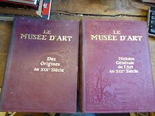 le musée d'art par Pierre Louis Moreau et eugène Müntz - larousse 2 volumes