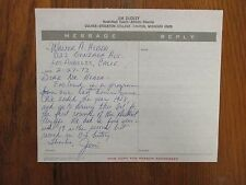 JIM  DUDLEY  Signed  Personal Letter-1973 Culver-Stockton Men's Basketball Coach