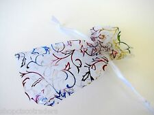 Drawstring Organza Bag Wedding Jewelry Pouch 3x4.5inch QTY1 A052-1 Multicolor