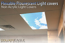 Fluorescent Light Panel Diffuser Sky & Cloud Dentist Office Classroom Home  1