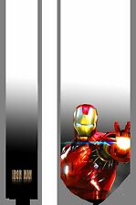 L@@K! Iron Man white satin Necktie - Tony Stark IronMan