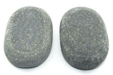 HOT STONE MASSAGE: Pair of XL Sacrum/Belly Stones 11 x 7 x 3cm