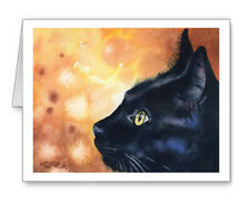BLACK CAT Set of 10 Note Cards With Envelopes