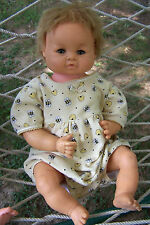 "Vintage 17"" Baby Doll, Drinks Wets, Rooted Hair, HP torso, Vinyl Head Limbs 1961"