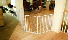 Wide Flexible Baby Gate Safety Large Opening Pet Barrier Walk Thru Configurable